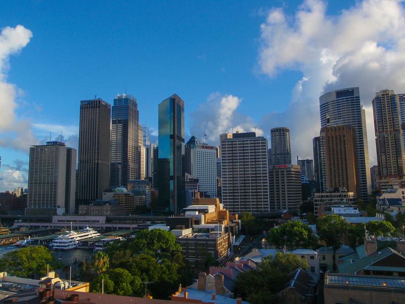 Sydney skyline from the hotel