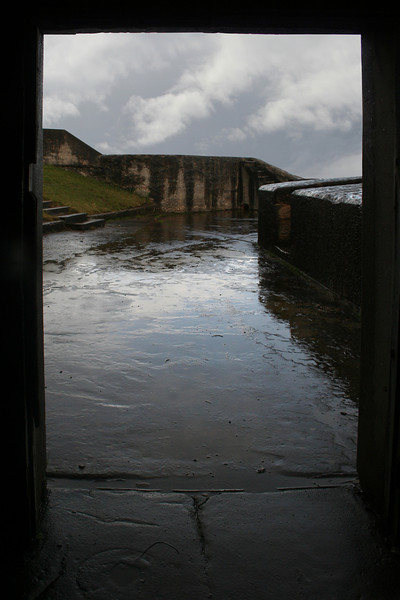 Doorway at Middle Head fortifications.