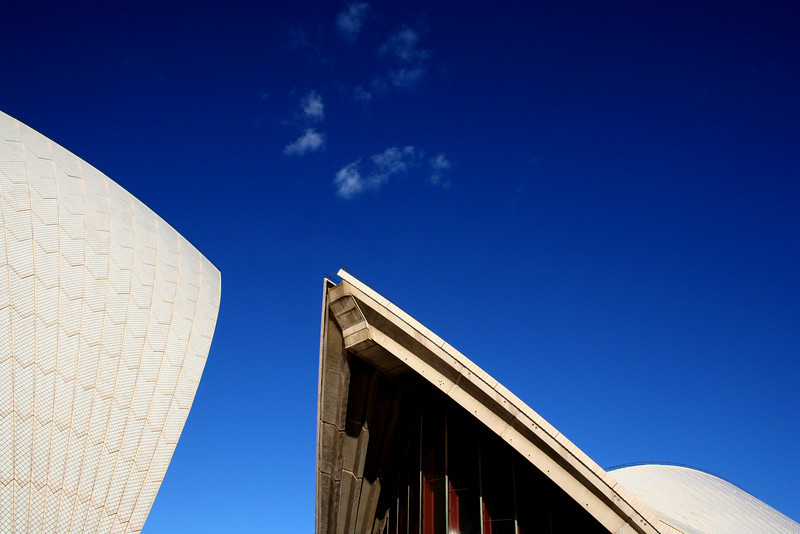 Sydney Opera House roof detail.