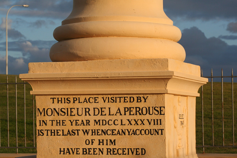 La Perouse Monument, at La Perouse, near the northern entrance to Botany Bay, Sydney, New South Wales.
