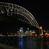 Sydney Harbour Bridge, Opera House and city skyline, viewed from Milsons Point.