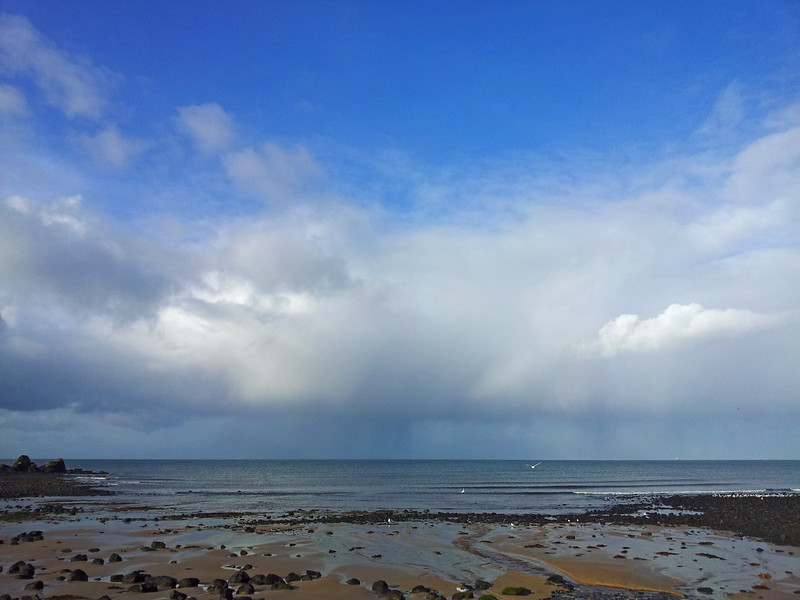 1 August 2015: Storms on Bass Strait, as seen from Godfreys Beach, Stanley, Tasmania.