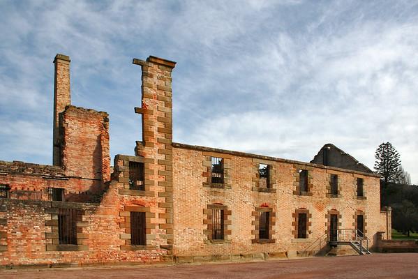 24 July 2015: Ruins of the Penitentiary at the Port Arthur Historical Site, Port Arthur, Tasmania.