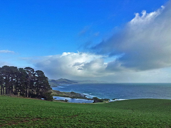 2 August 2015: View from Table Cape towards Boat Harbour and Rocky Cape, Tasmania.