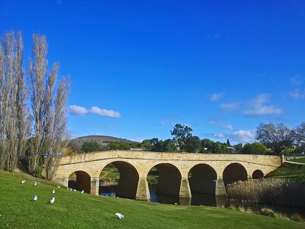25July 2015: Richmond Bridge, Richmond, Tasmania.