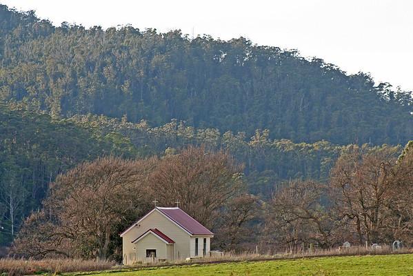 29 July 2015: Church at Pyengana, Tasmania.