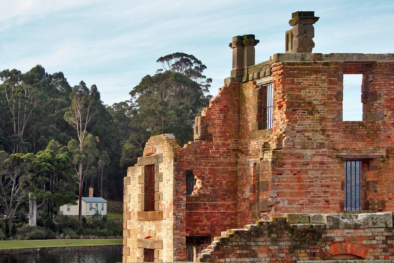 24 July 2015: Ruins of the Penitentiary, Port Arthur Historic Site, Port Arthur, Tasmania.