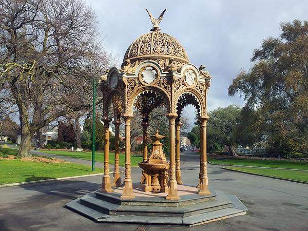 30 July 2015: Queen Victoria Jubilee Fountain, City Park, Launceston, Tasmania.
