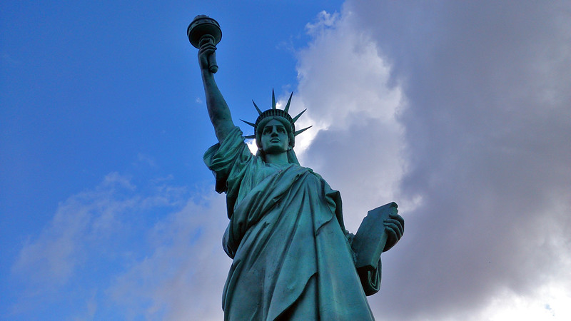 5 April 2017: Statue of Liberty replica @ Tazmazia theme park, Promised Land, Tasmania.