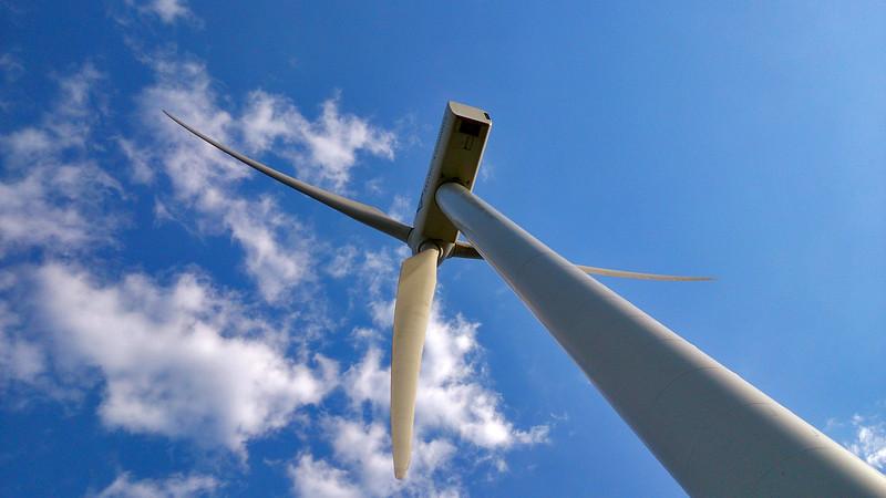 6 April 2017: Turbine at the wind farm @ Woolnorth, Tasmania.