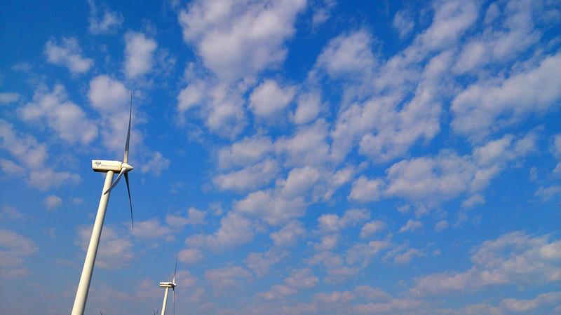 6 April 2017: Turbines at the wind farm @ Woolnorth, Tasmania.
