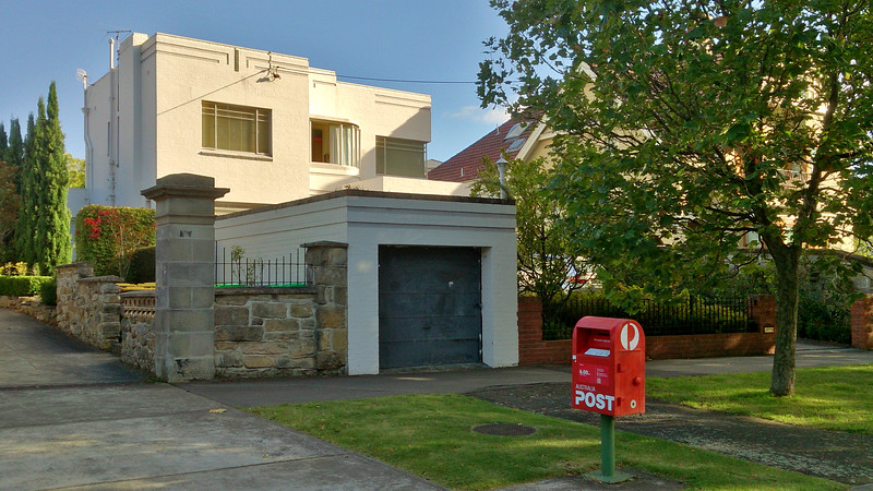2 April 2017: Art Deco residence @ Fitzroy Place, Sandy Bay, Hobart, Tasmania.