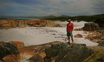 Friendly Beaches, Freycinet National Park. Tasmanië, Australië.