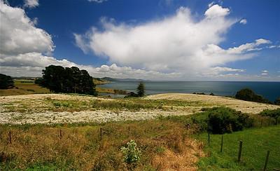 Uitzicht op Bass Strait, Tasmanië, Australië.