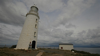 Lighthouse, South Bruny National Park, Bruny Island. Tasmanië, Australië.