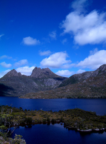 A blue day at Dove Lake, Cradle Mountain National Park.