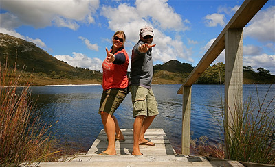 Ted's Beach, Lake Pedder, Southwest National Park. Tasmanië, Australië.