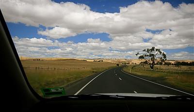 Highlands Road, Hamilton, Tasmanië, Australië.