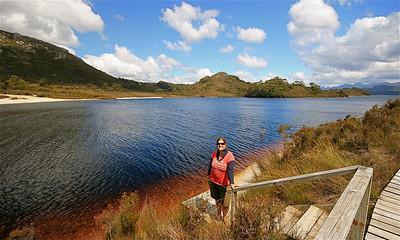 Lake Pedder, Frankland Range, Southwest National Park. Tasmanië, Australië.