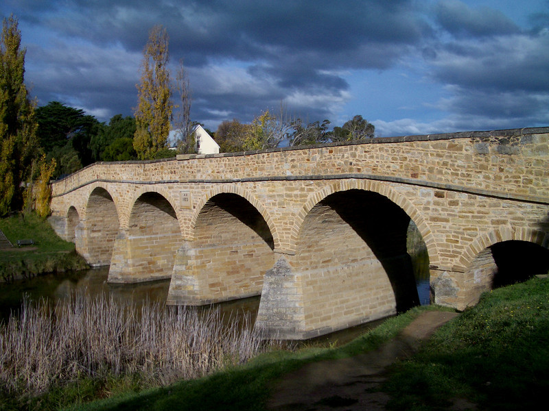 The oldest stone bridge in Australia, at Richmond.