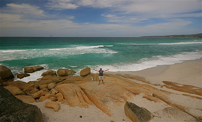 Bay of Fires. Binalong Bay, Tasmanië, Australië.