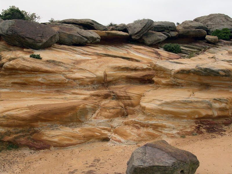 Sandstone formations at Coogee Bay, NSW