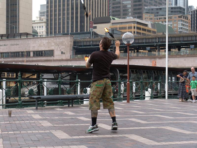 Street performer, Sydney Harbor
