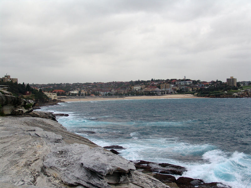 The South Pacific Ocean with Coogee Beach, in the background.