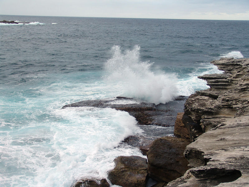 The South Pacific Ocean off Coogee Beach, NSW.