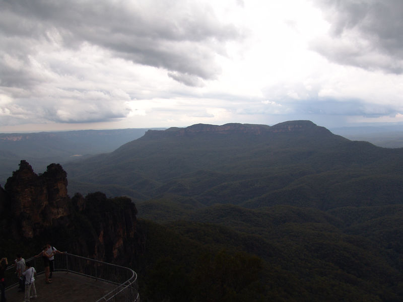 At 170m high Echo point is the tourist hub of the Blue Mountains and is visited by over two million people every year. There are a number of lookouts for visitors to gaze upon the famous three sisters and the Jamison Valley.