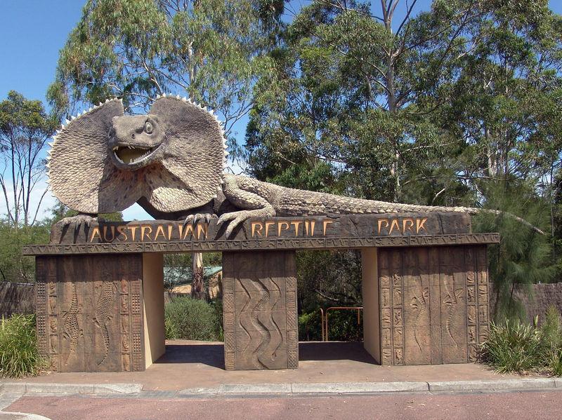 The gate of Australia Reptile Park