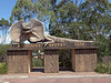 The gate of Australia Reptile Park
