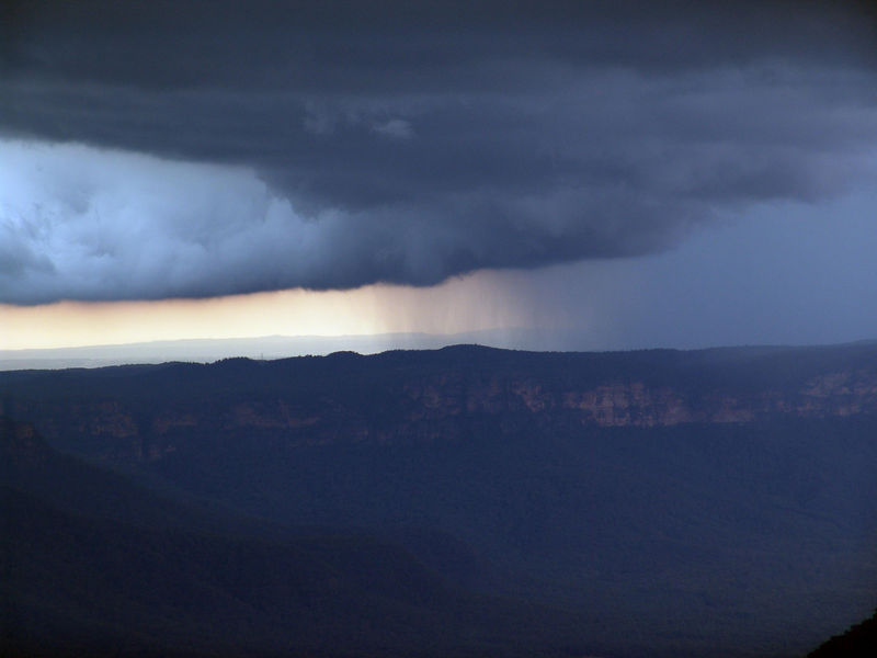 Close up of some serious rain in progress