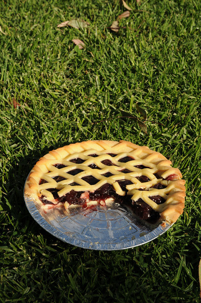 Rains spoilt the cherry harvest in Young. But the split fruit was perfect for making pies. Part of our great local produce week.