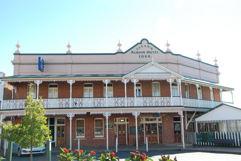 Pub in Grenfell. Grenfell is the birthplace of Henry Lawson.