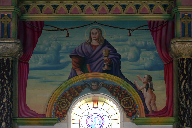 30 December 2011 @ Bairnsdale, Victoria: Mural, interior of St Mary's Roman Catholic Church.