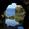 Reflections in The Grotto, Great Ocean Road, Victoria.