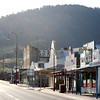 31 December 2011 @ Omeo, Victoria: Shops along Day Avenue bathed in late afternoon light.