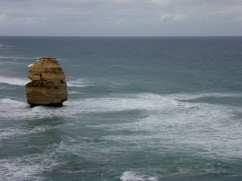 Angry swell and leaden sky at the Twelve Apostles, Port Campbell.