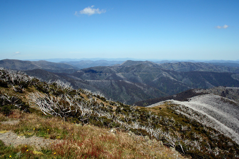 1 January 2012 @ Mount Hotham, Victoria: View to the west from Danny's Lookout.