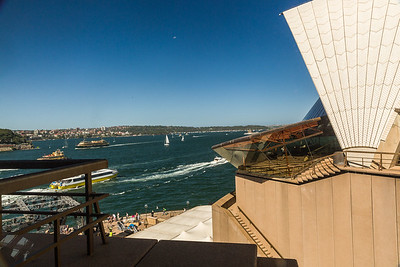 Looking out the Sydney Opera House