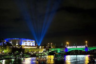 Arts Centre and bridge, White Night Festival, Melbourne