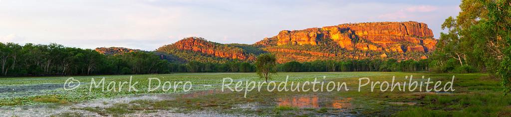 Sunset panorama, Anbangbang Billabong, Kakadu, Northern Territory