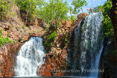 Jumping backwards off a 15m waterfall?  Seems like a good idea.  Florence Falls, Litchfield, Northern Territory