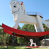 Worlds largest rocking horse (and baby) at toy factory , Gumeracha, South Australia, North of Adelaide.