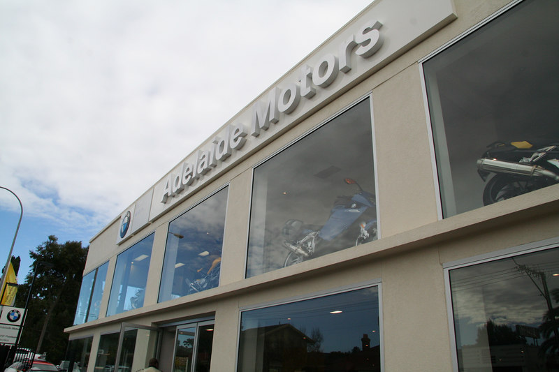 When we first drove into Adelaide, we happened upon a BMW motorcycle dealer.