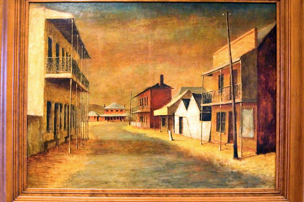 Russell Drysdale Sofala 1947 Oil on canvas on hardboard Art Gallery of New South Wales Sydney, NSW Australia - 22 Jun 2006