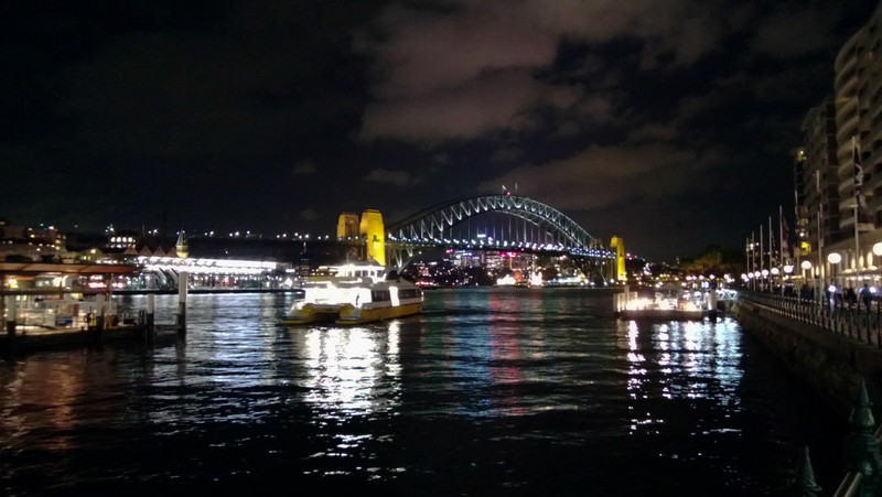 the bridge from the circular quay