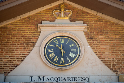 the clock at the hyde park barracks