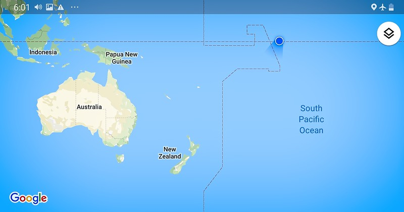 The Journey There - Crossing into the Southern Hemisphere for the first time.